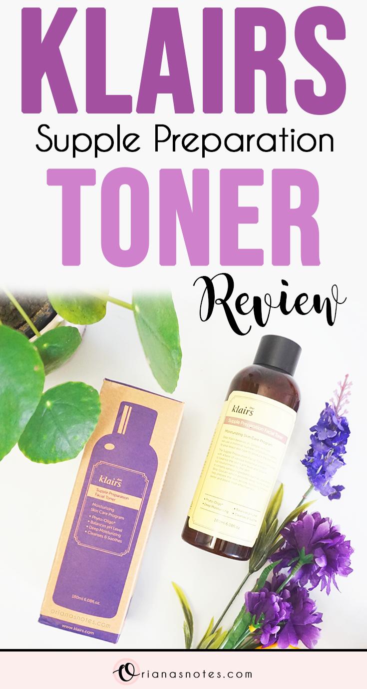 Klairs Supple Preparation Toner Review Korean skincare