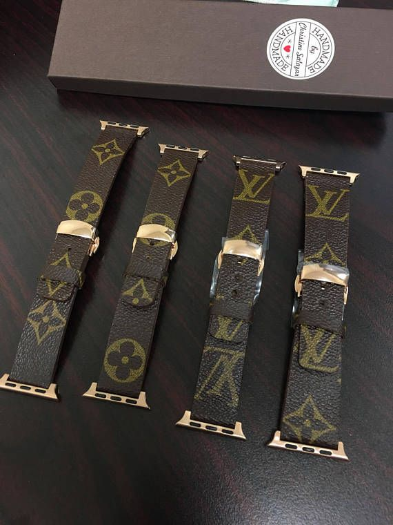 e3a34eacc25 Handmade Louis Vuitton Apple Watch Band The total length range is 146mm to  190mm (5 3 4 to 7 1 2)