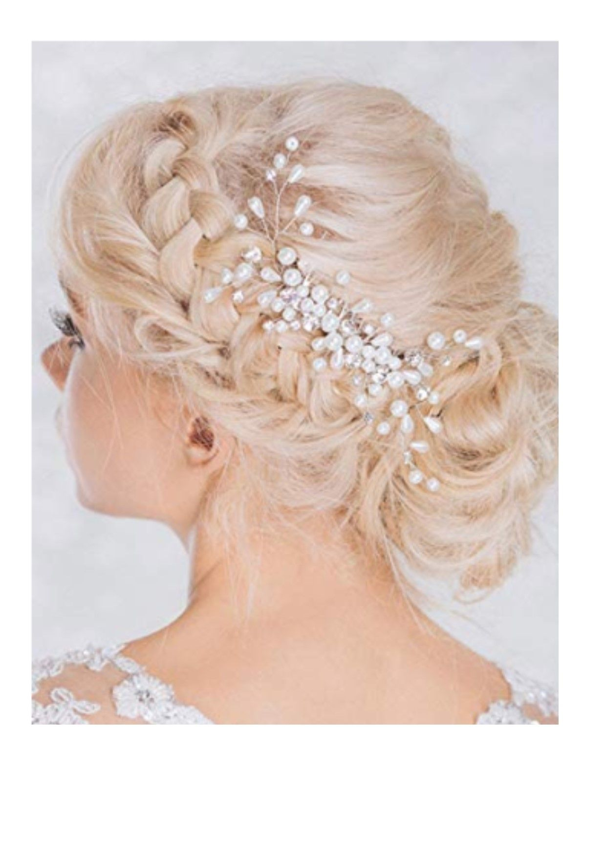 aukmla bridal bling bling headpiece, wedding hair combs with