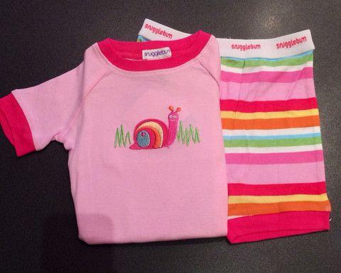 Snugglebum snail pink short john | fashion deli children's clothing & accessories