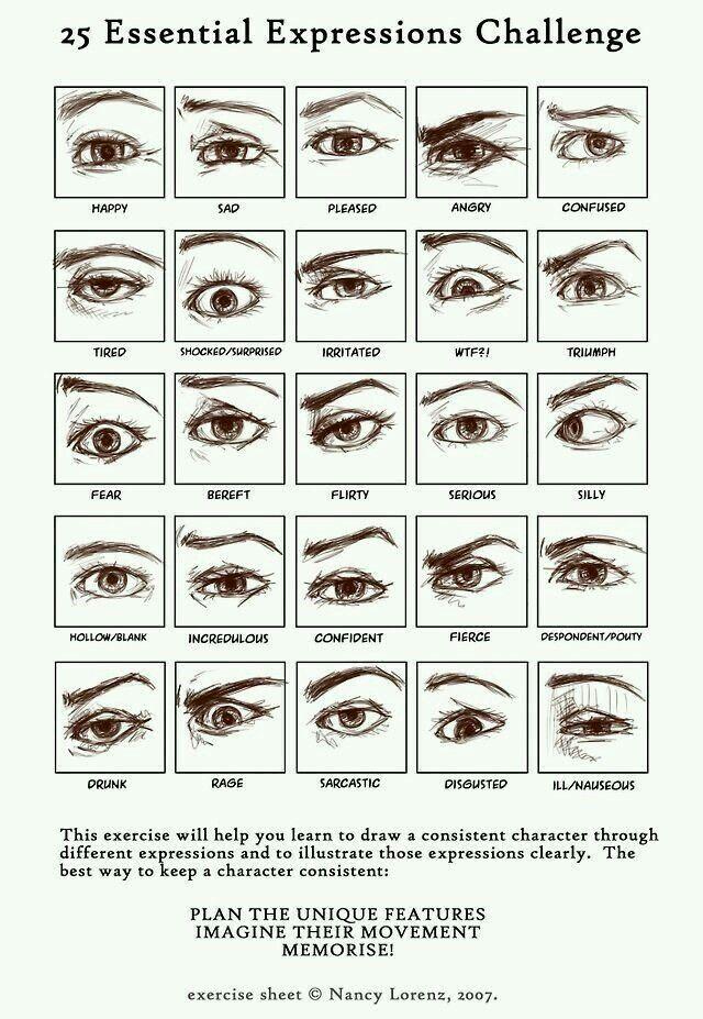 Ik heb dit plaatje gebruikt voor de ogen/ wenkbrauwen