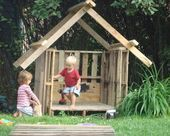 dyi plans for play houses and structures  Simple Kids Playhouse Pallet playhous