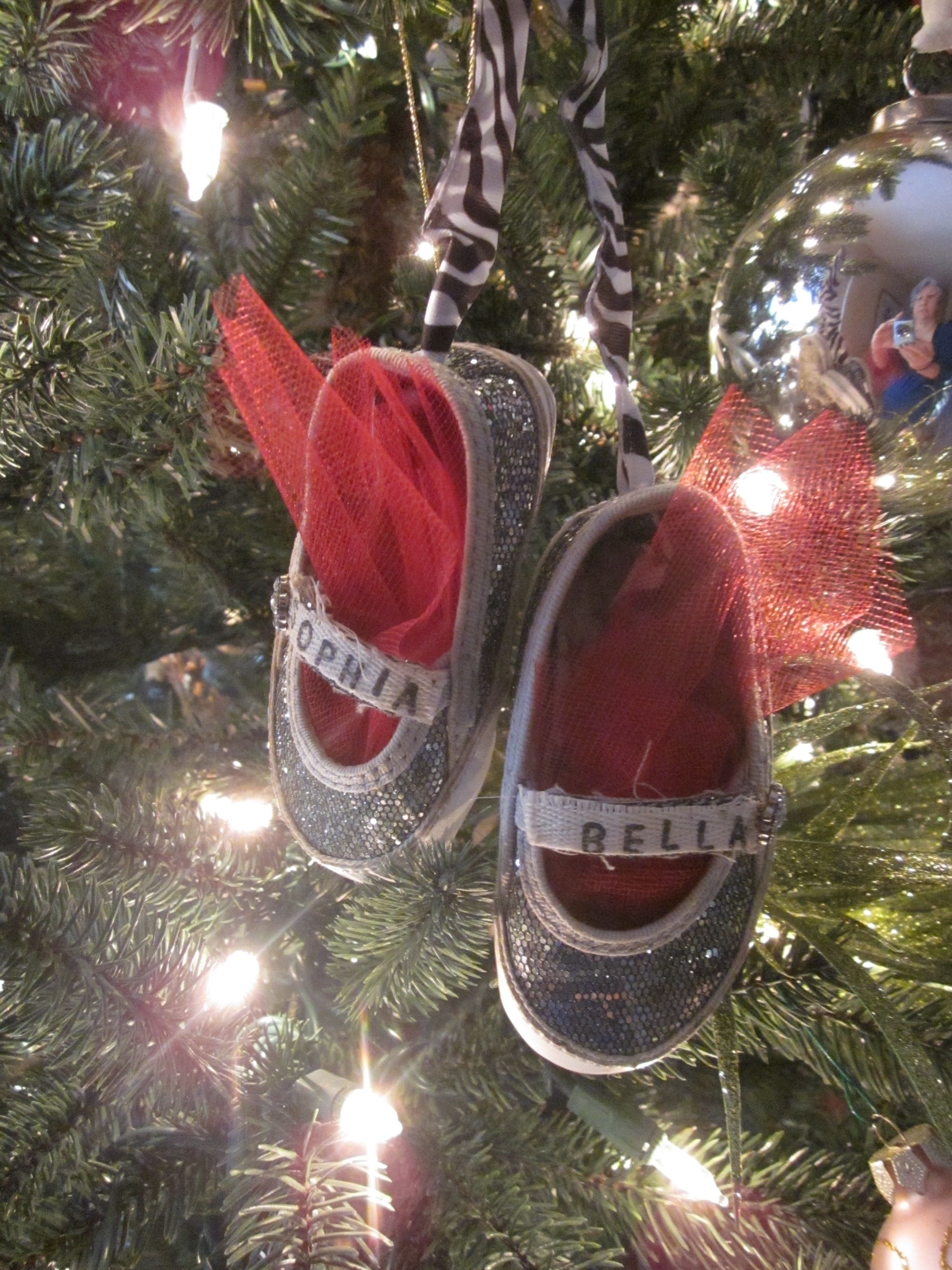 Baby shoe ornament My mom is so crafty Holidays