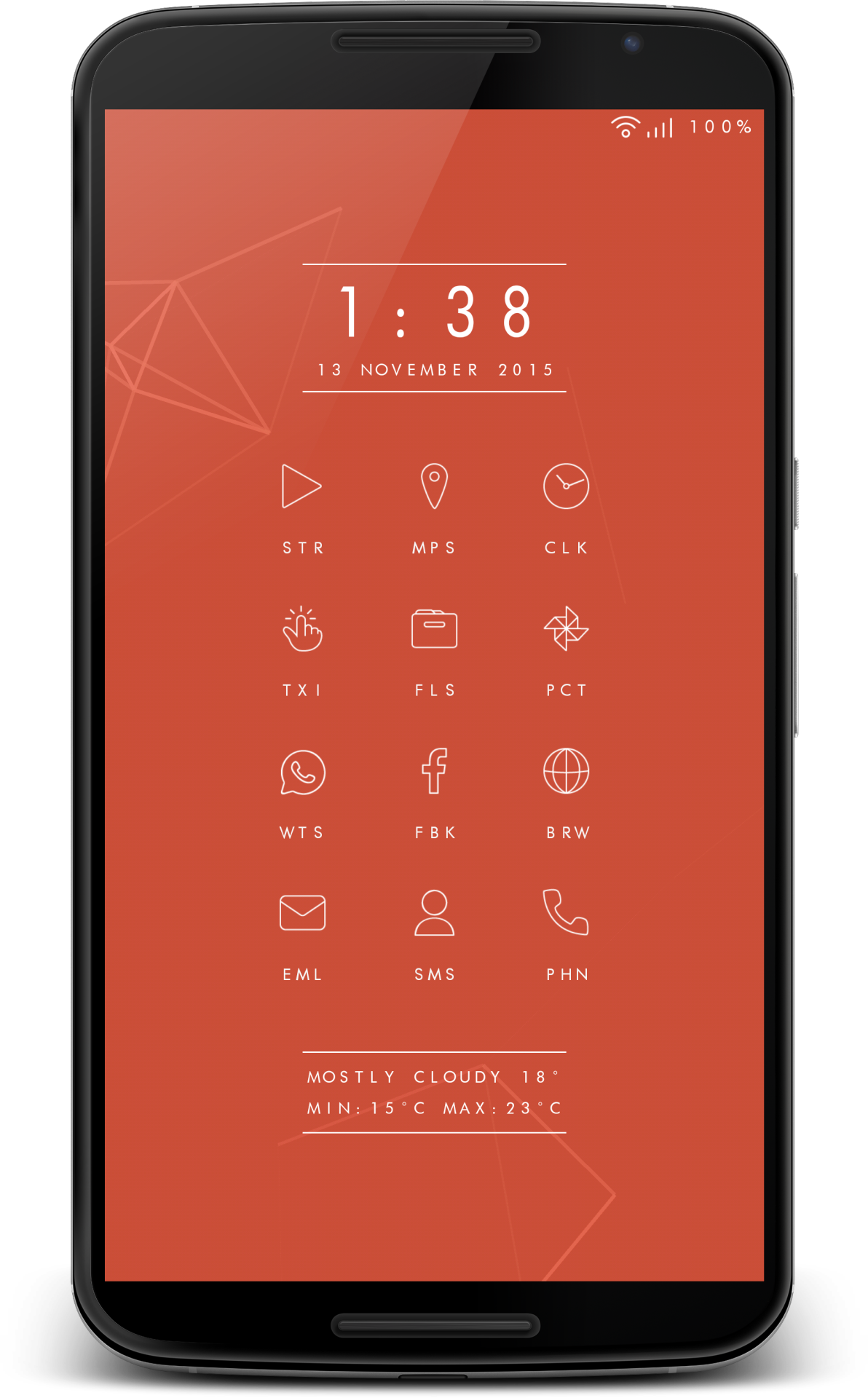 Digital Vanity Android theme, Iphone minimal, Layers theme