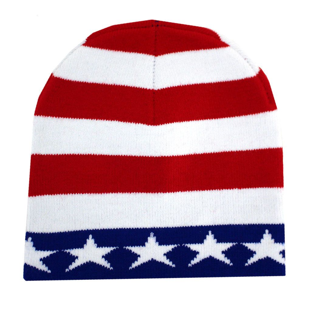 American Flag Beanie Usa Red White Blue Knit Hat Knitted Hats Purple Leopard Red White Blue