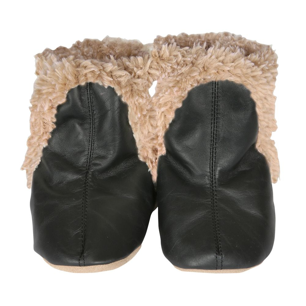 Classic Baby Boots, Black   Robeez
