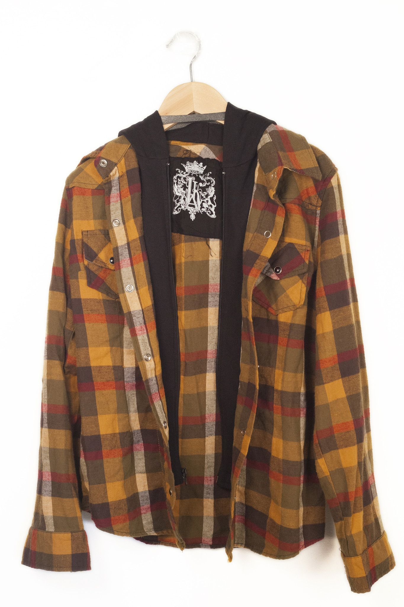 Flannel shirts at kohl's  JAK Acid Wash Flannel  Yellow  Products  Pinterest  Products