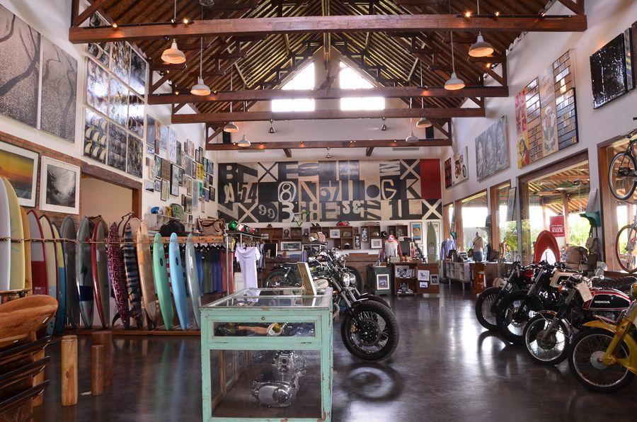 Surf & motocycle shop, Bali