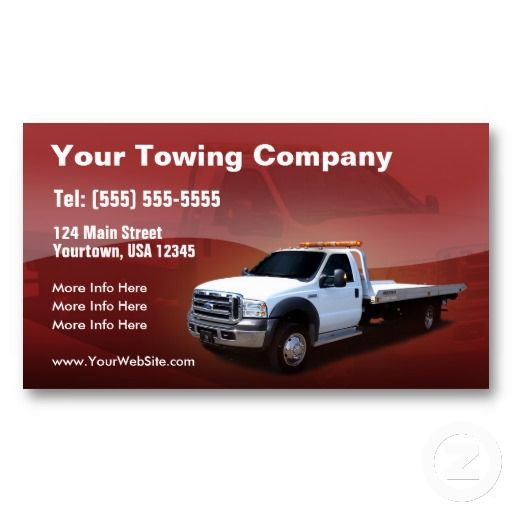 Elegant design tow truck business cards pinterest towing towing company white truck design double sided standard business cards pack of colourmoves
