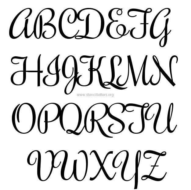 image relating to Printable Calligraphy Stencils referred to as Read through Posting: Rochester Huge Letter Stencils A-Z 12 Inch
