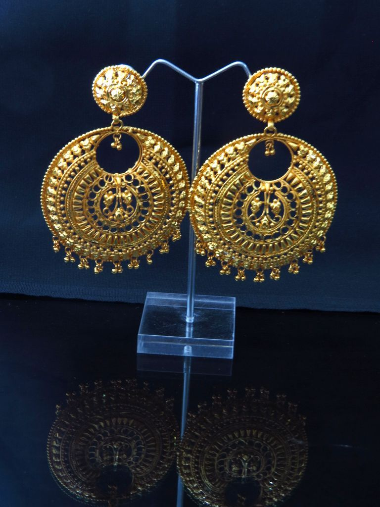 Chand bali Earrings in big size, Wholesale Indian Jewellery online ...