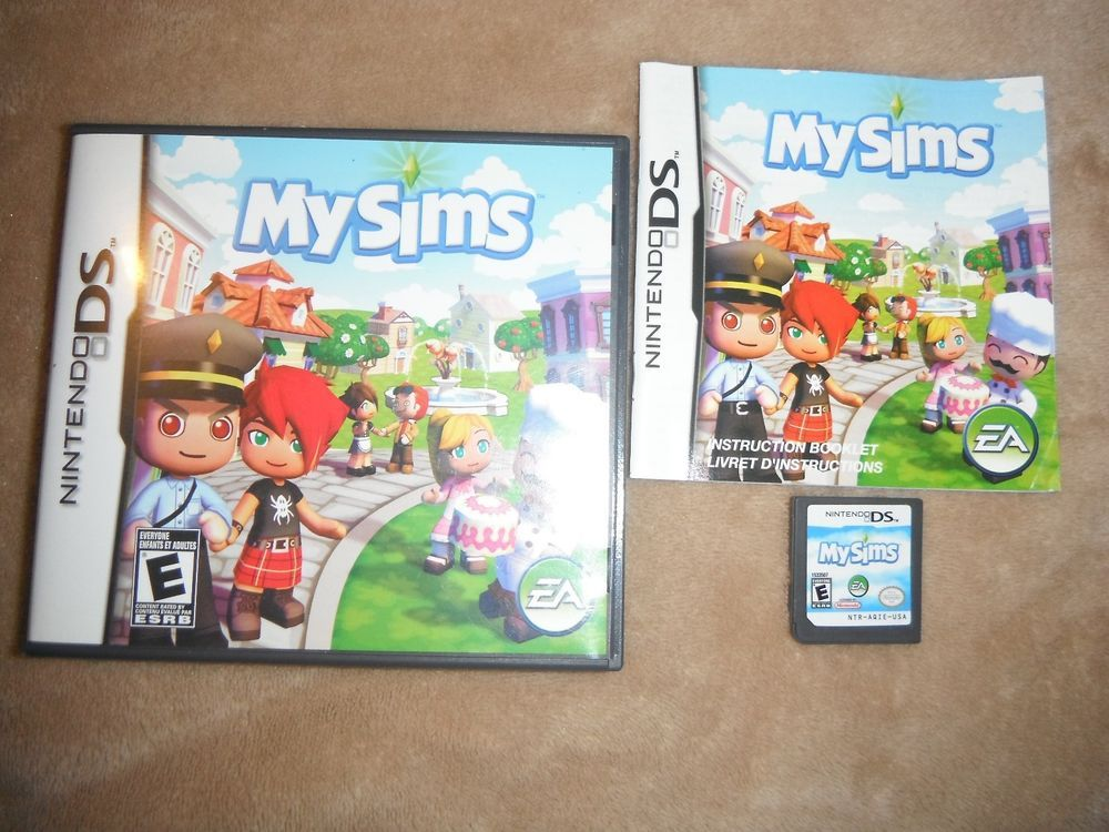 Mysims Nintendo Ds Lite Dsi Xl 2ds 3ds Xl My Sims Complete