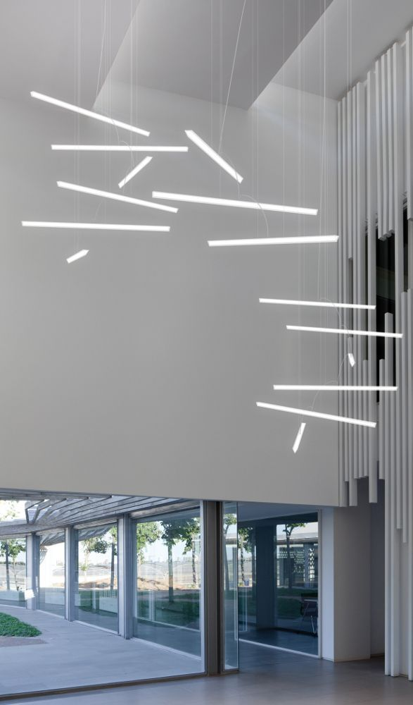 Discover all the information about the product pendant lamp contemporary pmma led halo lineal by martín azúa vibia lighting and find where you can