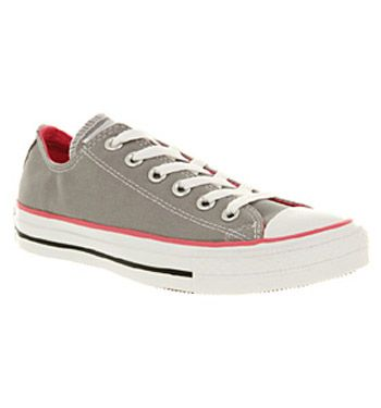 Converse ALL STAR OX LOW GREY PINK CANVAS EXCLUSIVE Shoes - Converse  Trainers - Office Shoes afa4e9adc