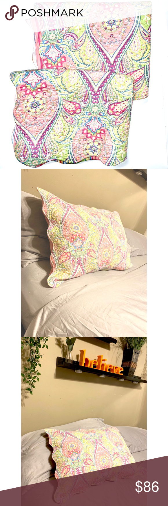 Two Quilted Pillow Shams Super Cute Paisley pillow shams beautiful for a girls r...  Two Quilted Pillow Shams Super Cute Paisley pillow shams beautiful for a girls r…#beautiful #cute #Beautiful #Cute #Girls #paisley #Pillow #Quilted #Shams #Super