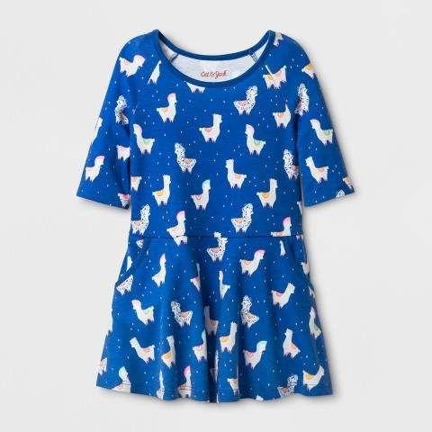b518dbecfb5 Cat   Jack Toddler Girls  A-Line Dress - Cat   Jack Blue  affiliate ...