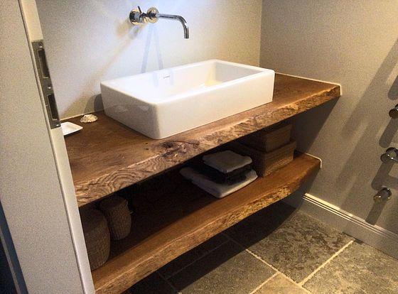 Photo of Consolle lavabo Consolle lavabo Piano lavabo in legno massello su misura …