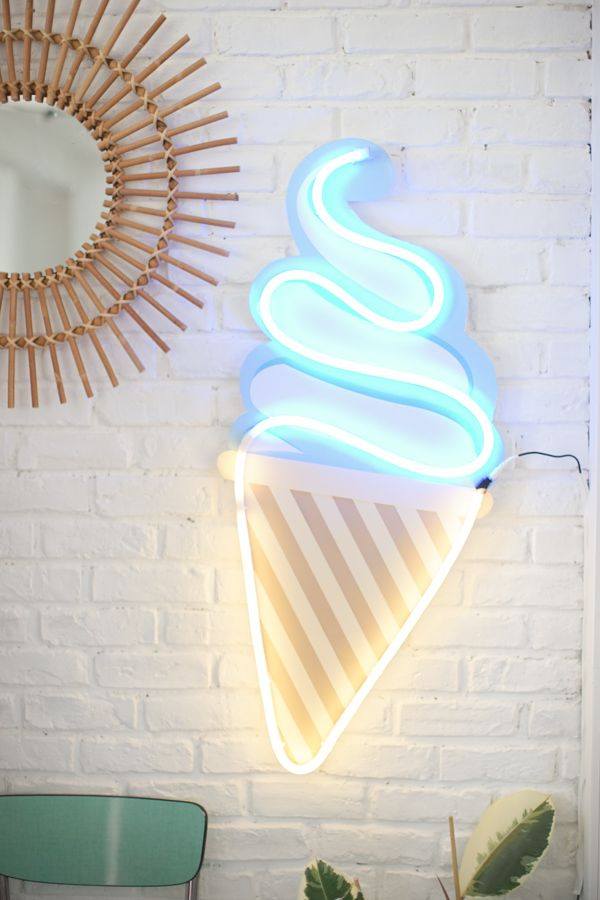 diy ice cream neon diy loisirs creatifs pinterest deco decoration et glace. Black Bedroom Furniture Sets. Home Design Ideas