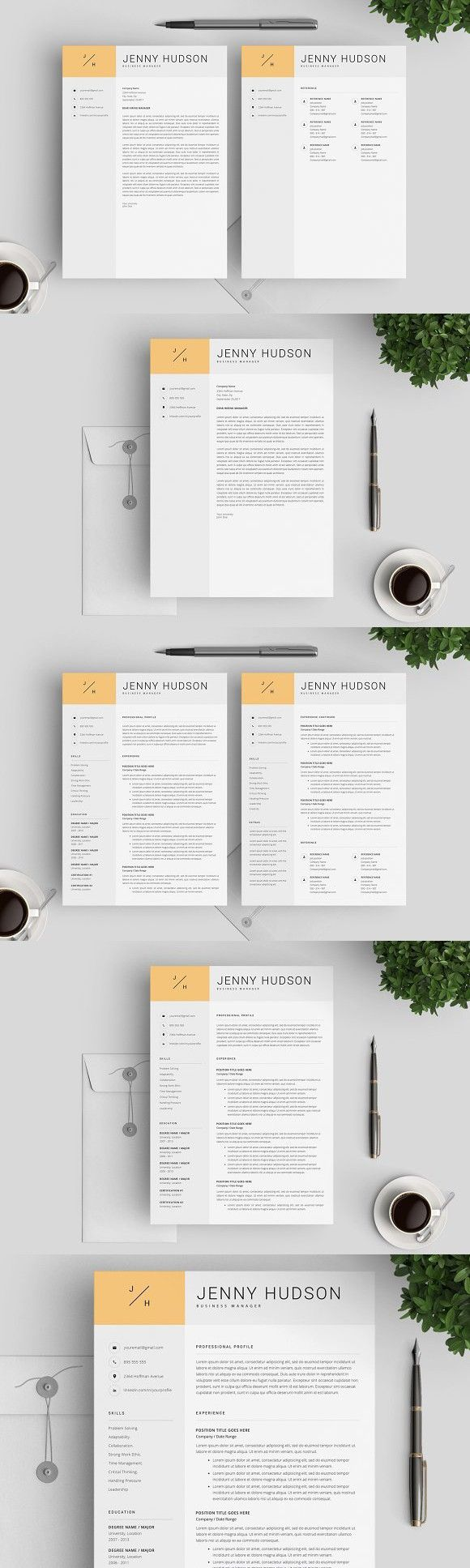 Creative Resume Template / CV One page resume template