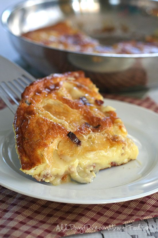 Bacon & Brie Frittata #baconfrittata