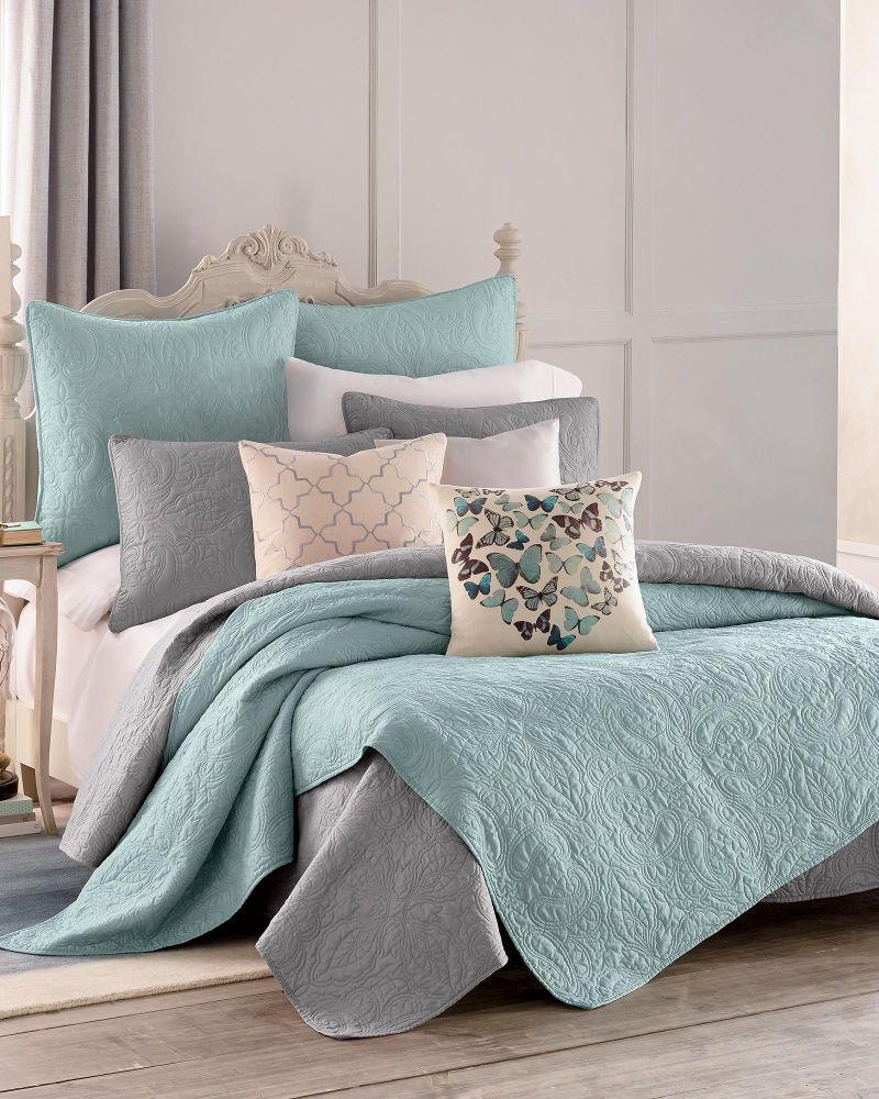 Middleton Paisley Quilt Collection Blue Haze Quilts