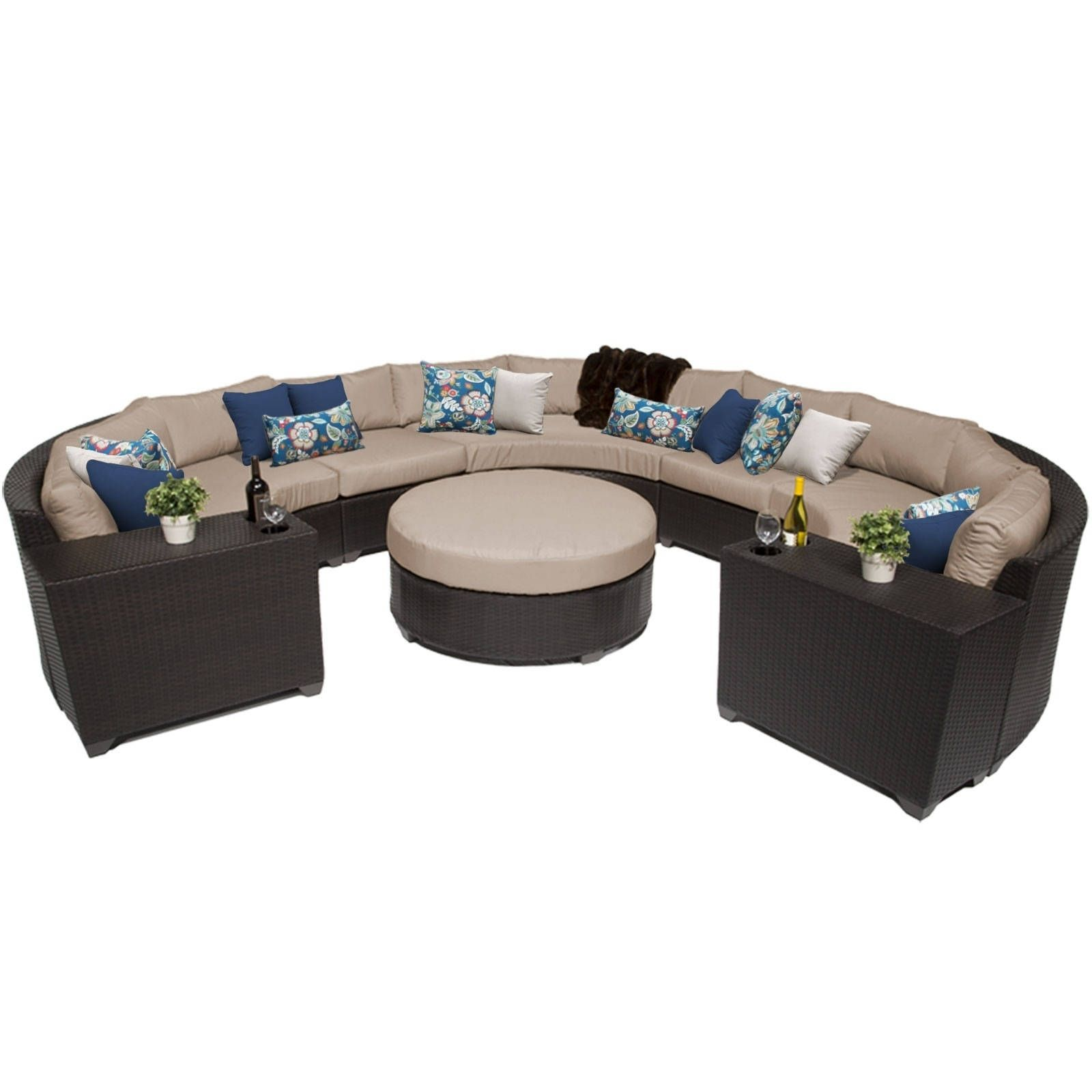 meridian 8 piece outdoor patio rounded wicker sectional with rh pinterest com