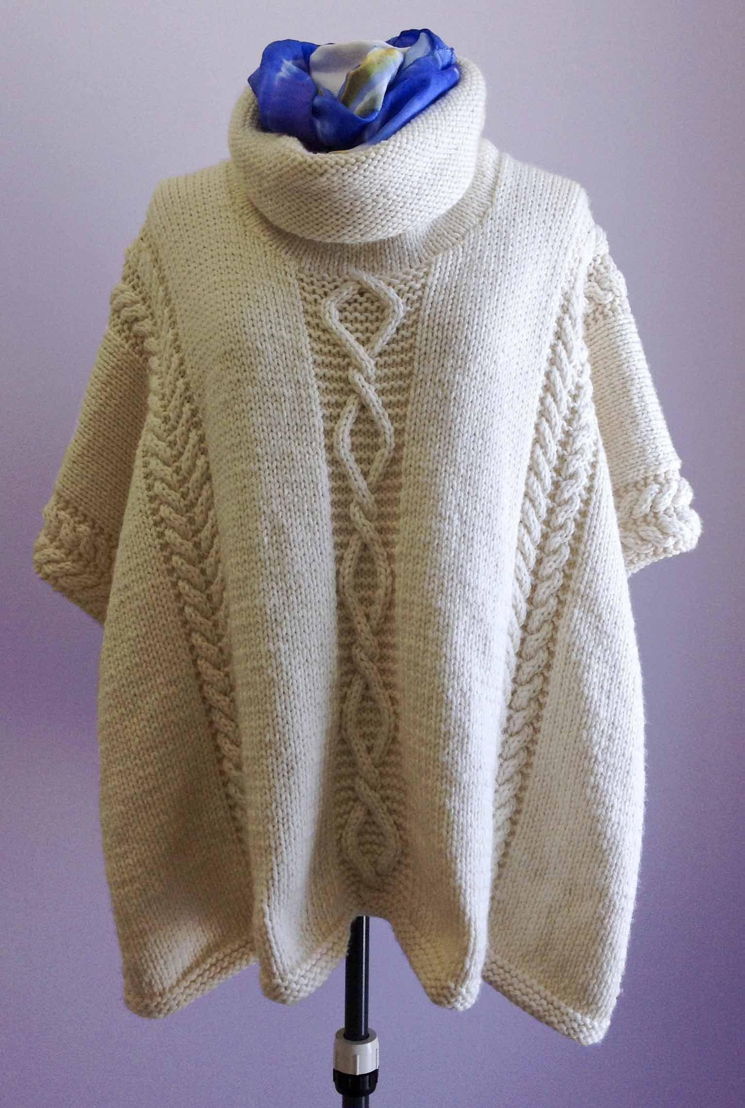 click for close-up   Poncho knitting patterns, Knitted ...