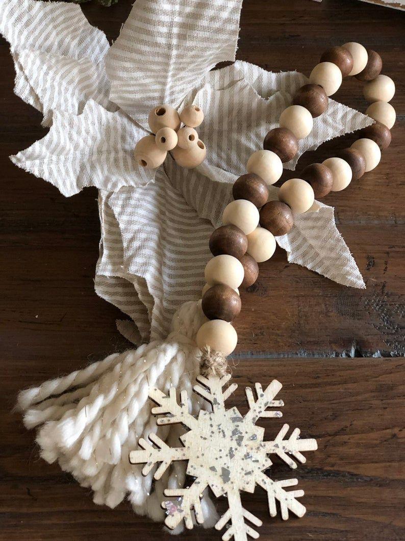 Farmhouse Beads Wood Bead Garland Casa Beads