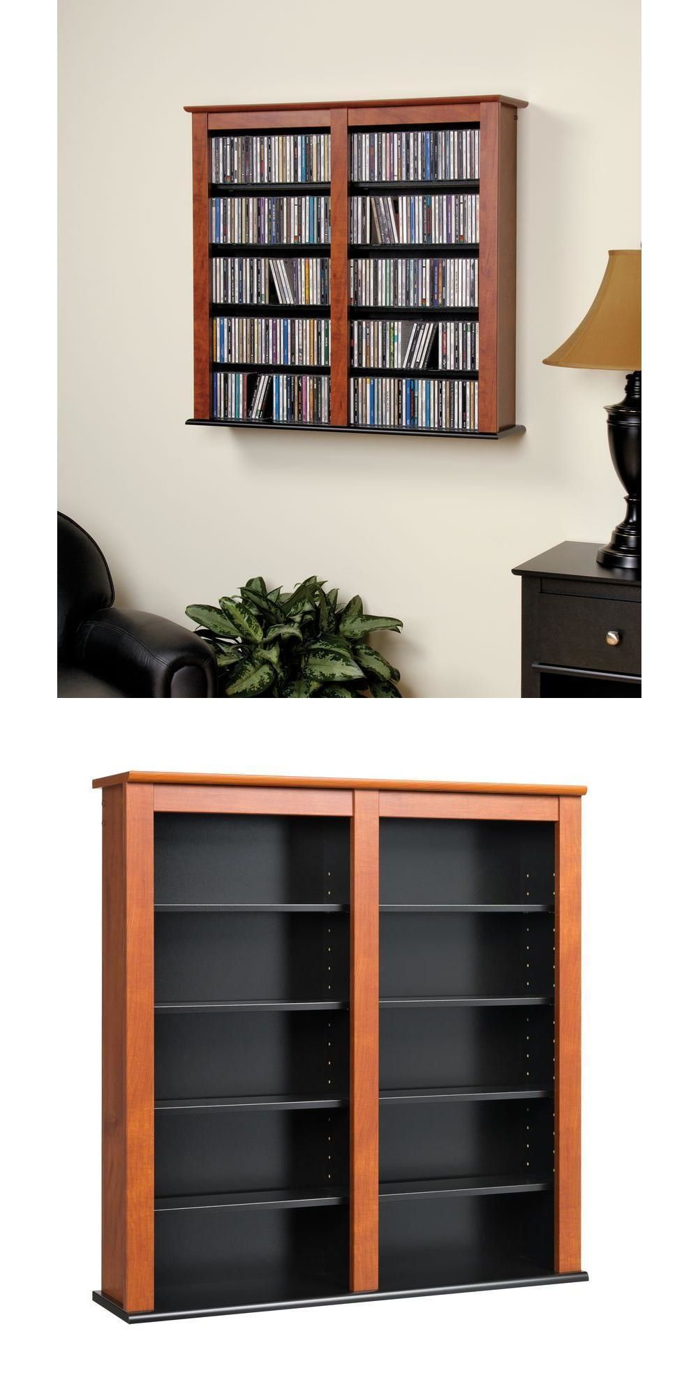 cd and video racks 22653 cherry media storage cabinet wall hanging rh pinterest com
