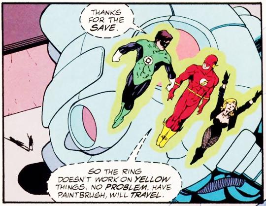 Green Lantern, Flash, Canary