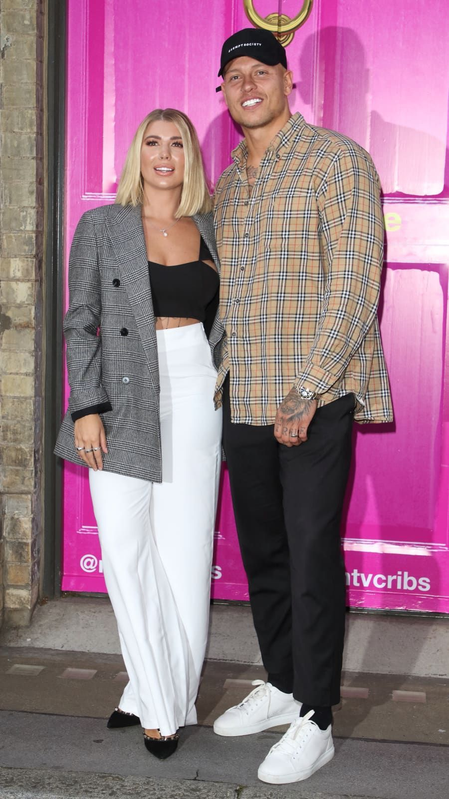 Olivia Buckland And Alex Bowen At The Celebrity Cast Launch House
