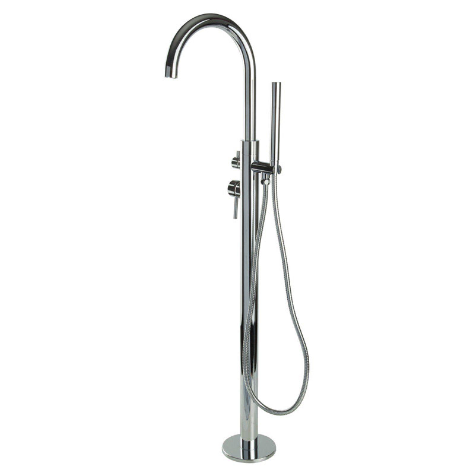 Borhn Osseo B51297 Floor Mounted Bathtub Faucet With Hand Shower