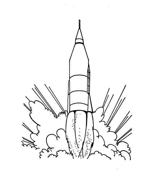 Rocket Ship Launching Coloring Page For Kids Download Print Online Coloring Pages For Free Color Nimbus