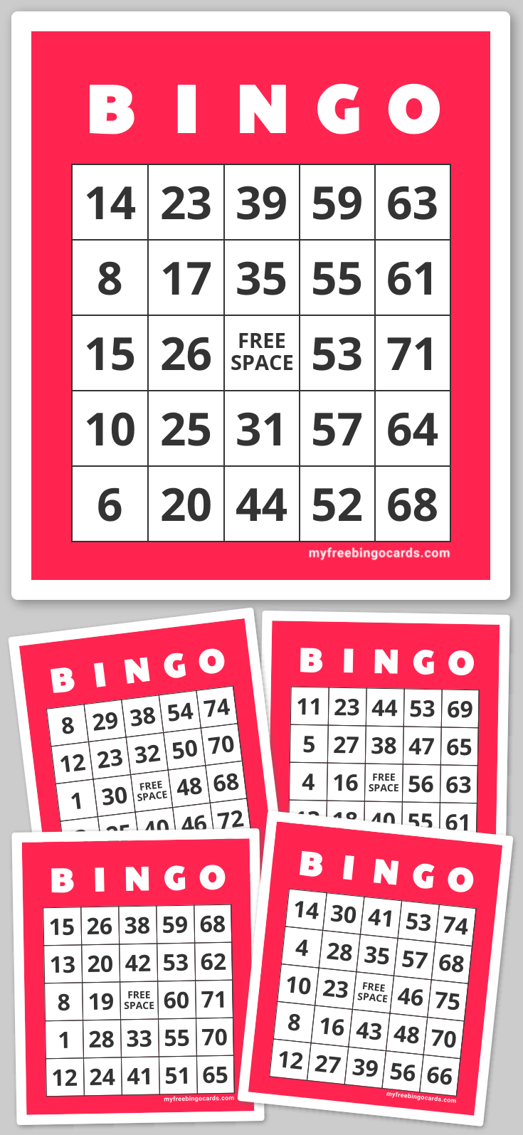 Play virtual 175 Number Bingo with your friends for free