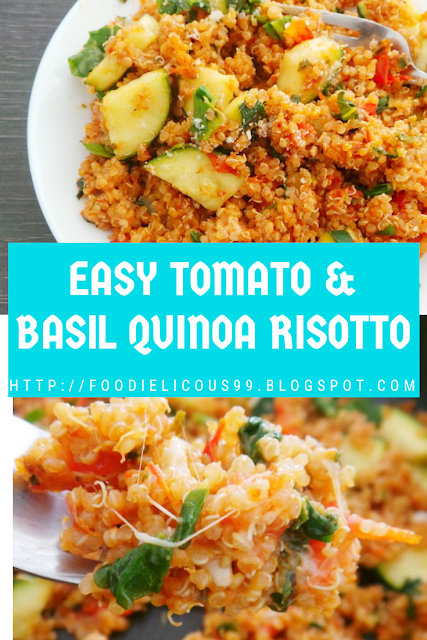 Photo of EASY TOMATO & BASIL QUINOA RISOTTO ( Vegetarian, Gluten Free, Vegan )