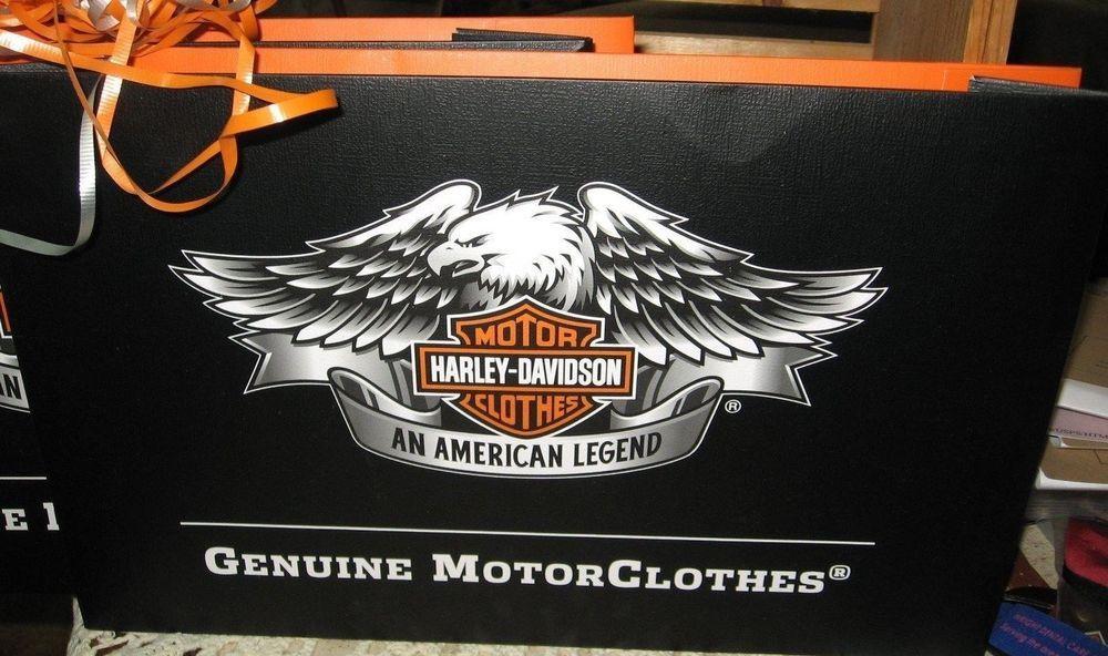 Harley Davidson Motorcycle Gift Box Set 2 Black Orange 15x9 5x2 Holiday Wrap Motorcycle Gifts Harley Davidson Holiday Wrap