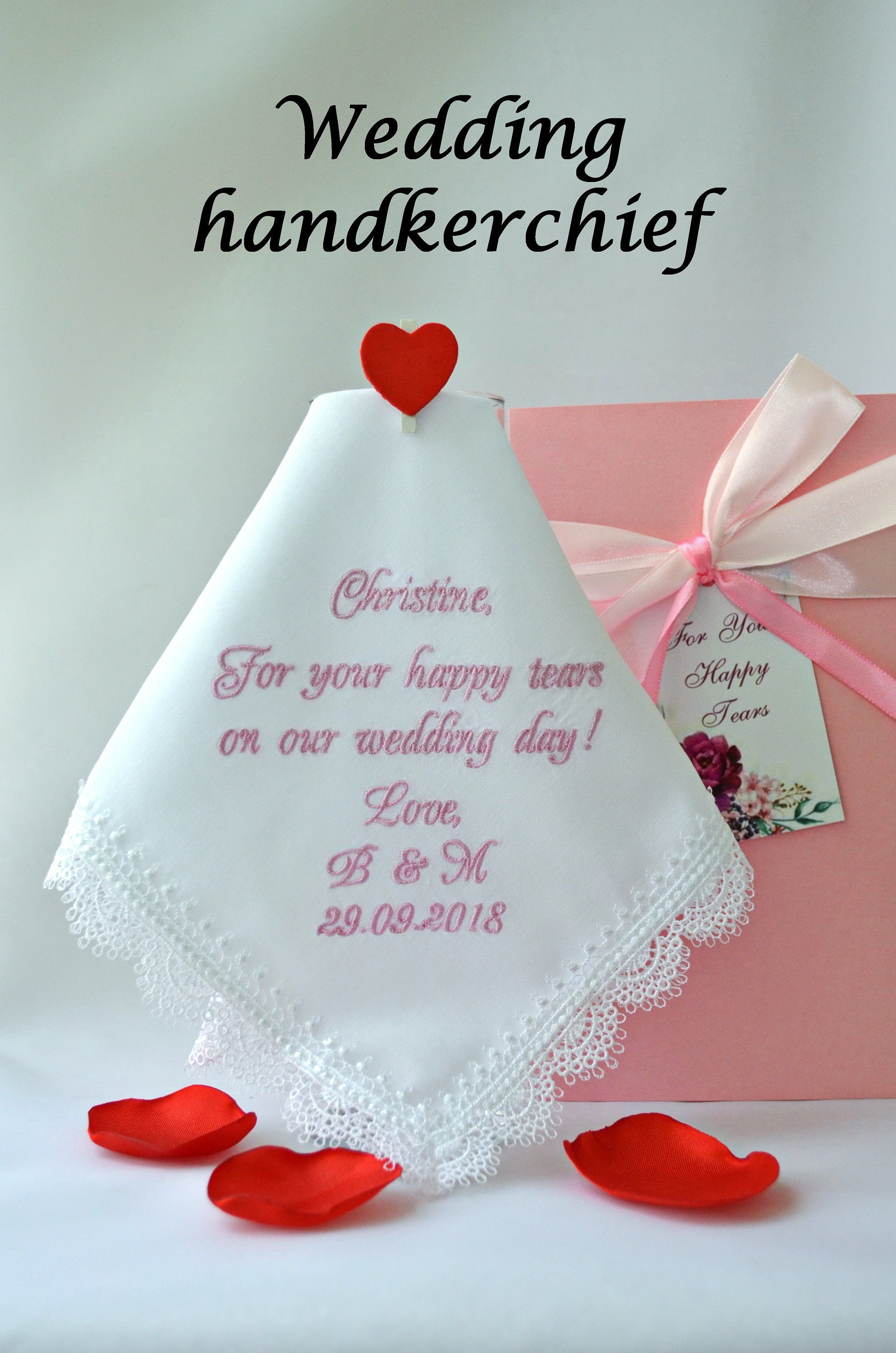 For your happy tears handkerchief for maid of honor mother