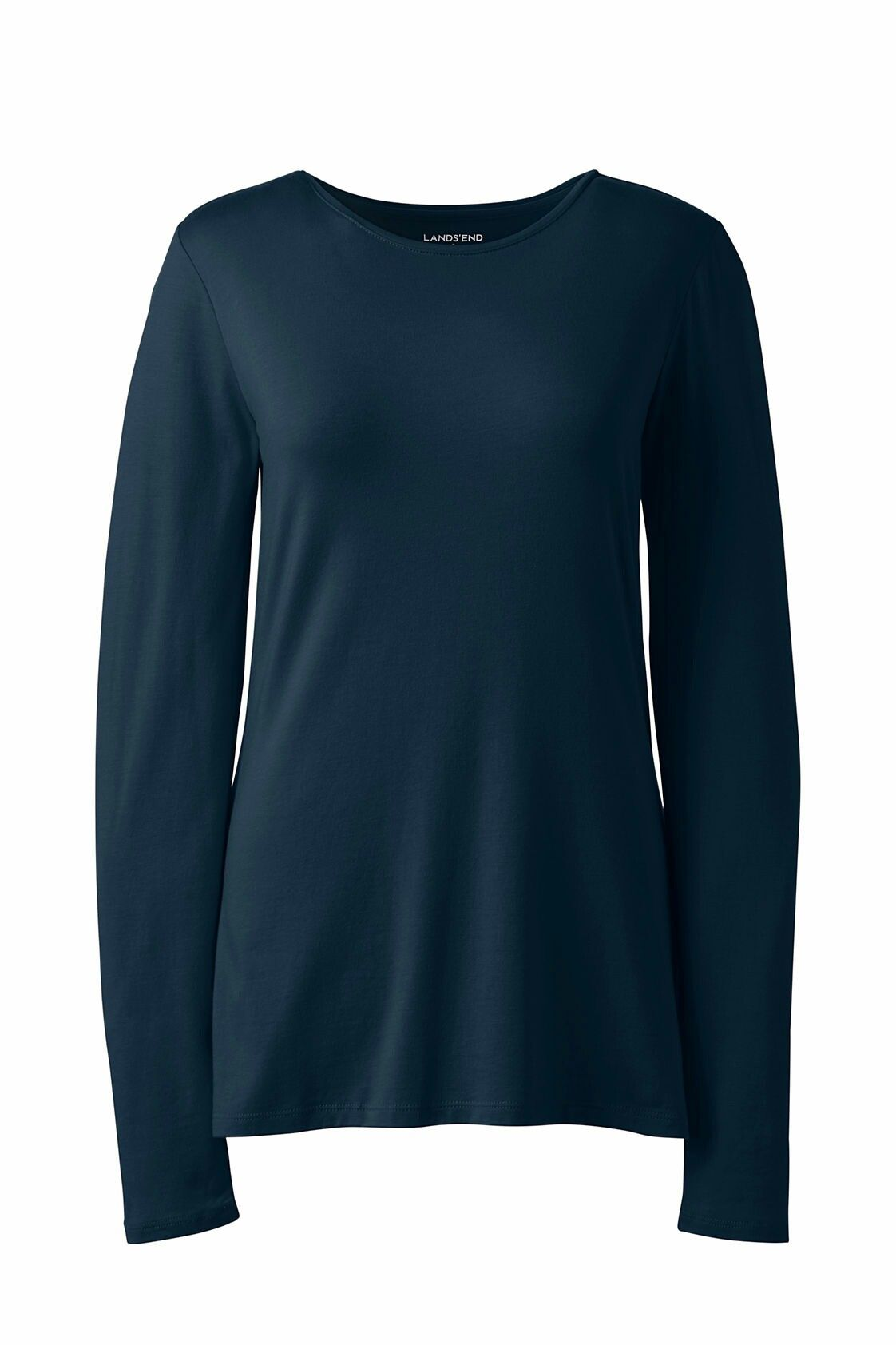 Land's End Shaped layering long sleeve crewneck tshirt in