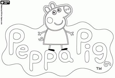Desenhos para colorir da Peppa Pig | Cliquetando