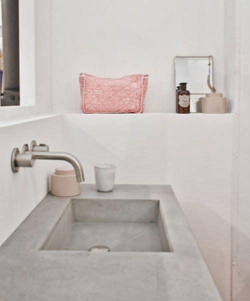Grey and Pastell - www.leuchtend-grau.de  #Grey #Pastell #Bath #Minimalism