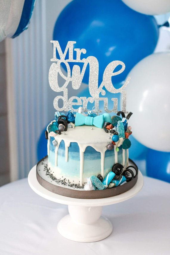 Mr Onederful Cake Topper Boy First Birthday Wonderful