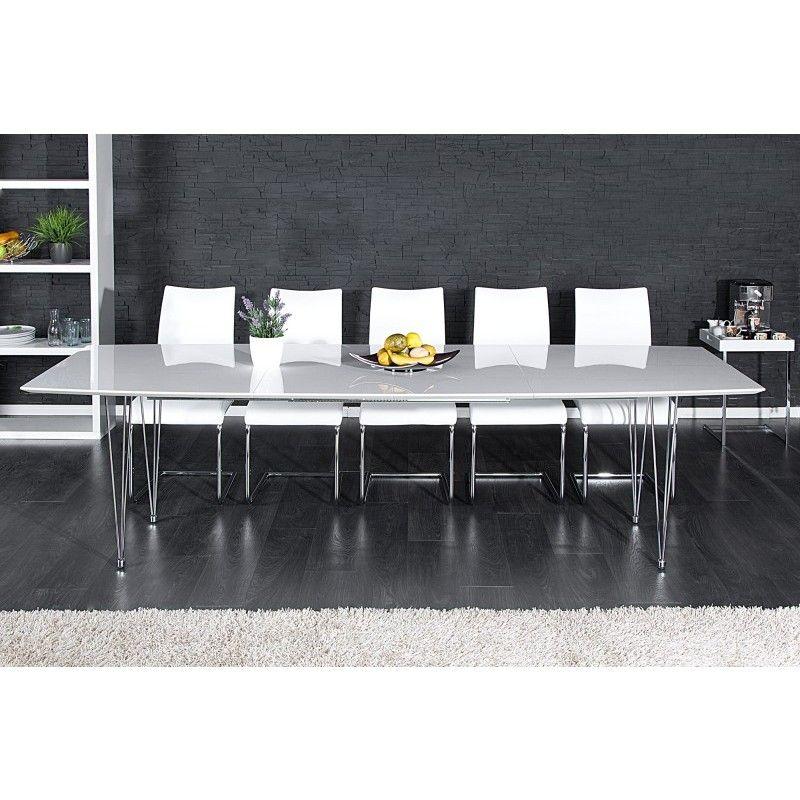 Moderne Eettafel Uitschuifbaar.Eettafel Continental 170 270cm Wit Uitschuifbaar 21252 In