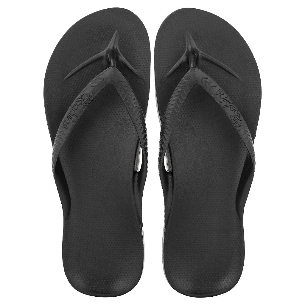 Black Arch Support Flip Flops in 2020 Arch support