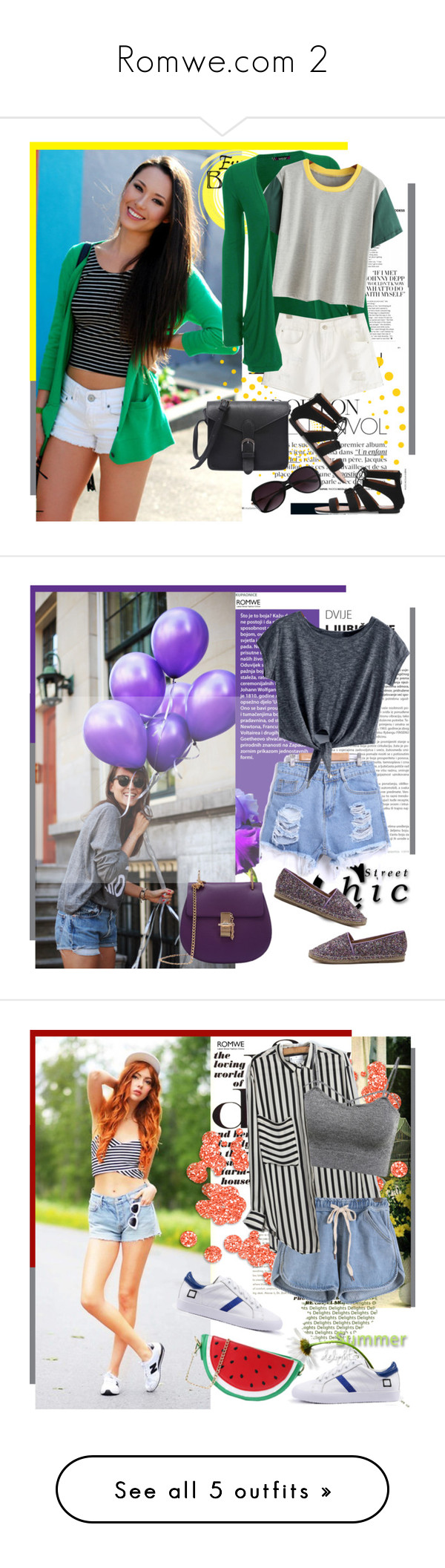 """""""Romwe.com 2"""" by bebushkaj ❤ liked on Polyvore featuring Summer, romwe, collection, WearAll, Rapunzel Of Sweden, Canvas by Lands' End, vintage and Chanel"""