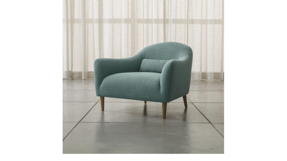 pennie chair crate and barrel home chair blue armchair rh pinterest com