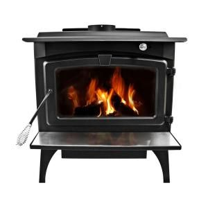 pleasant hearth 1 800 sq ft epa certified wood burning stove with rh pinterest com