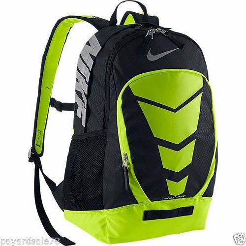 NIKE-AIR-MAX-VAPOR-BACKPACK-LAP-TOP-BAG-GYM-VOLT-BLACK-SCHOOL-BAG-TRAVEL 9b57ab297fd18