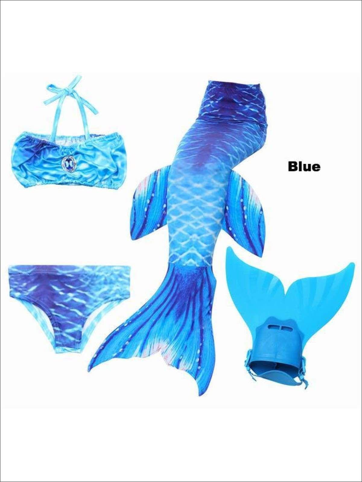 Kids Girls Adult Women Mermaid Tail Monofin Swimmable Tail Swimwear Cosplay Hot