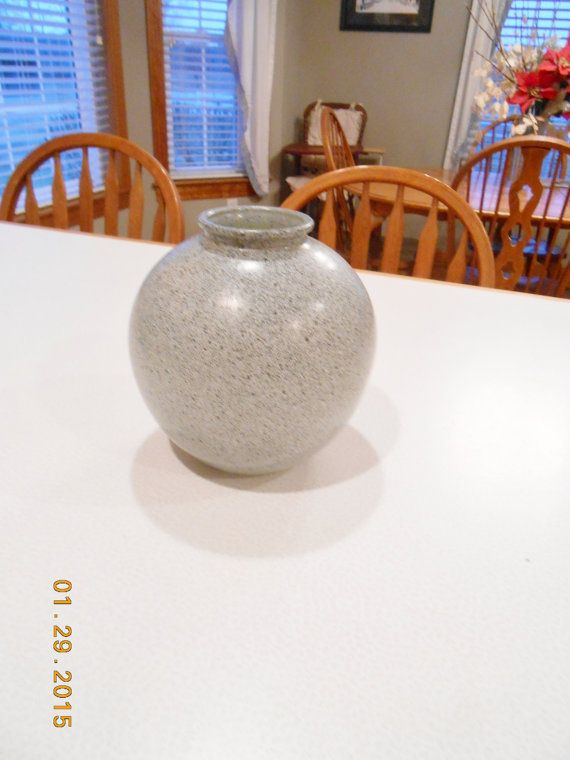 Vase Studio Nova Portugal Round Jar Vase Grey Black Speckled Glass