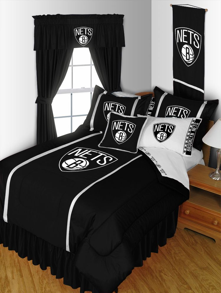 brooklyn nets complete bedroom package sidelines collection rh pinterest co uk